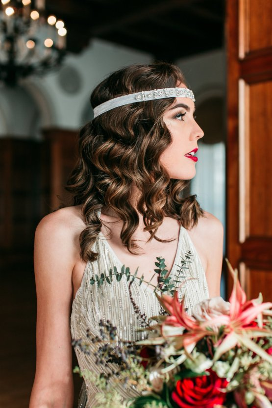 The Great Gatsby Art Deco Wedding Inspiration With Tropical Florals – Holly Castillo Photography 34