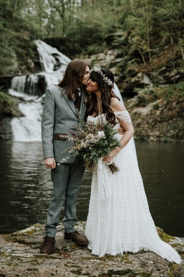 Woodland Waterfall Fairy-Tale Wedding – T and K Photography 44
