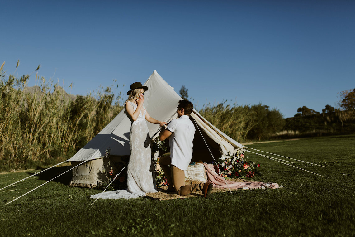 Bohemian Glamping Wedding and Proposal Inspiration – Lindie Wilton Photography 2