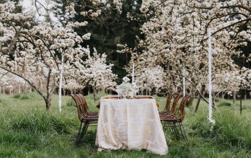 Japanese Wedding Inspiration Styled In A Pear Orchard