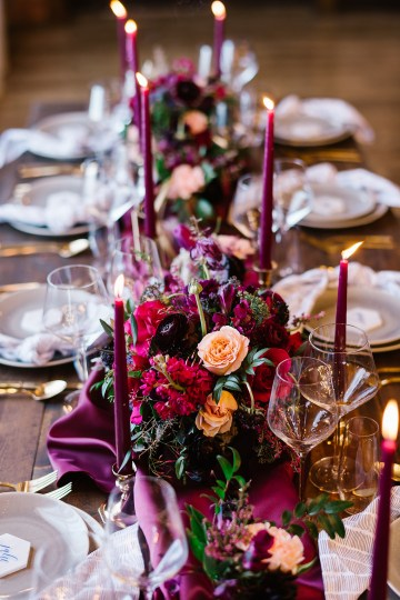 Whimsical Crimson and Green Holiday Wedding Inspiration – Stacy Able Photography 25