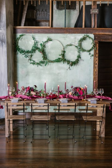 Whimsical Crimson and Green Holiday Wedding Inspiration – Stacy Able Photography 37