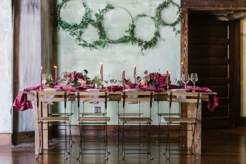 Whimsical Crimson and Green Holiday Wedding Inspiration – Stacy Able Photography 5