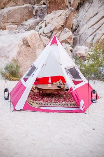 Amazing Vintage Joshua Tree Camping Wedding – Someplace Images 19