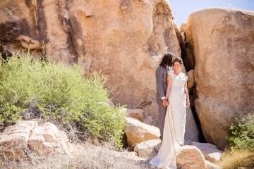 Amazing Vintage Joshua Tree Camping Wedding – Someplace Images 8