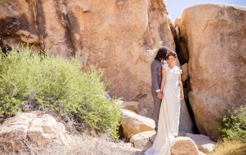Amazing Vintage Joshua Tree Camping Wedding