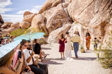 Amazing Vintage Joshua Tree Camping Wedding – Someplace Images 9
