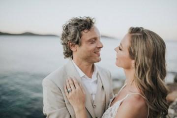 Boho Greek Island Wedding Featuring A Circle Floral Arch – Paulina Weddings 44