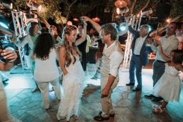 Boho Greek Island Wedding Featuring A Circle Floral Arch – Paulina Weddings 46