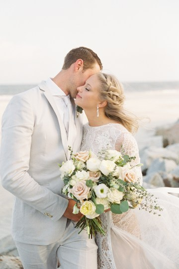 Intimate Southern Boho Beach Wedding in Charleston – Ava Moore Photography 30