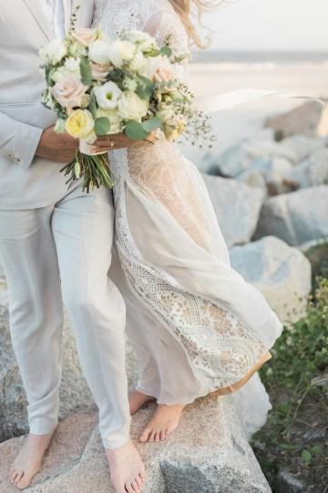 Intimate Southern Boho Beach Wedding in Charleston – Ava Moore Photography 53