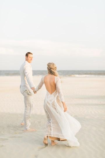 Intimate Southern Boho Beach Wedding in Charleston – Ava Moore Photography 55