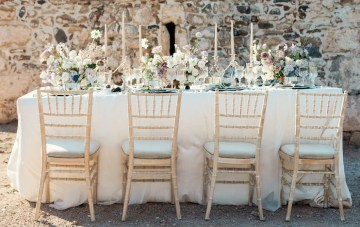 A Greek Orthodox Chapel Adorned With Modern & Luxurious Wedding Style