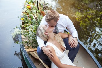 Wildflower Elopement In The Middle Of A Lake – White Poppy Weddings 1