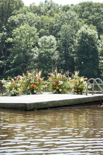 Wildflower Elopement In The Middle Of A Lake – White Poppy Weddings 16