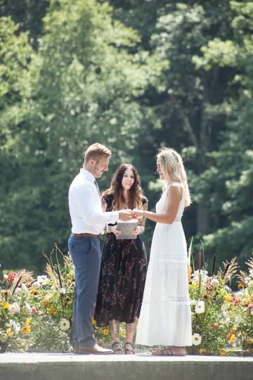 Wildflower Elopement In The Middle Of A Lake – White Poppy Weddings 17