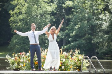Wildflower Elopement In The Middle Of A Lake – White Poppy Weddings 4