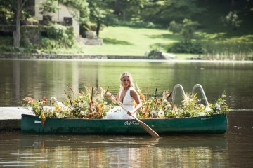 Wildflower Elopement In The Middle Of A Lake – White Poppy Weddings 5