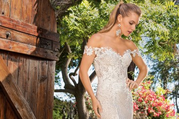 6 Stunning Lace Wedding Dresses By Casablanca Bridal – cover 2365 Ella-FRONT