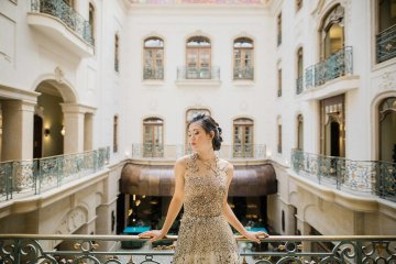 A Dramatic Gold Wedding Dress for the Goddess Bride – Vivid Symphony 2