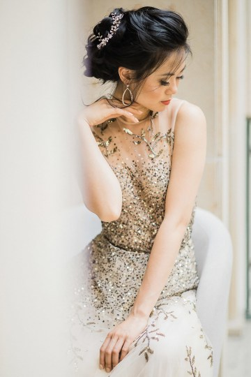 A Dramatic Gold Wedding Dress for the Goddess Bride – Vivid Symphony 20