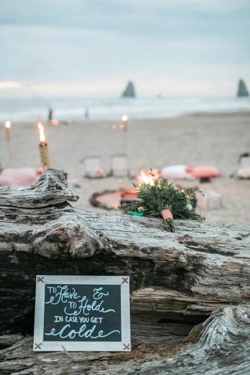 Cannon Beach Bonfire Wedding With Smores – Marina Goktas Photography 33