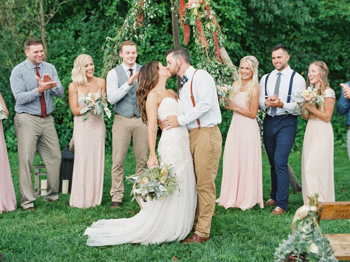 Eclectic Detail-filled Ohio Farm Wedding with a Donut Wall and Espresso Cart – Mandy Ford Photography 9