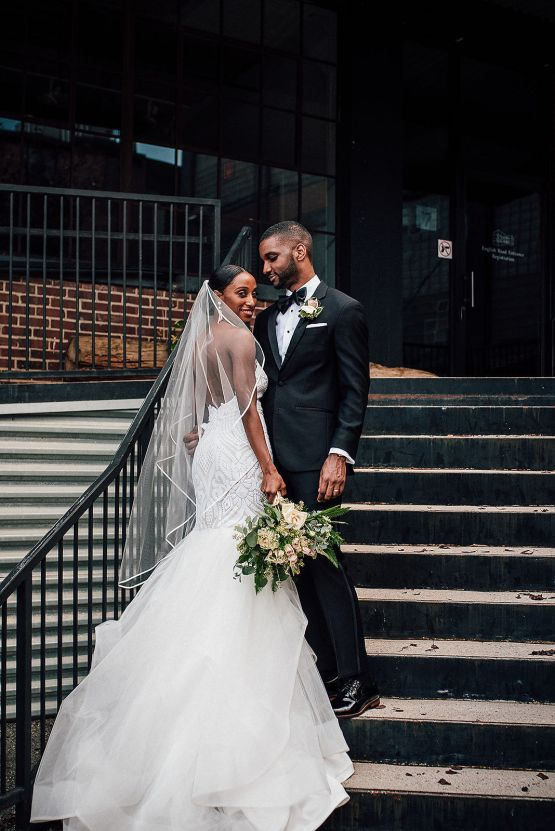 Glamorous and Industrial North Carolina Loft Wedding – Three Region Photography 22