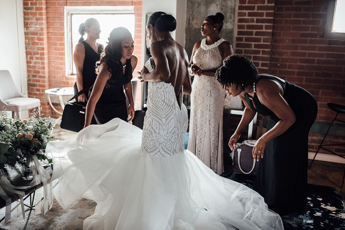 Glamorous and Industrial North Carolina Loft Wedding – Three Region Photography 37