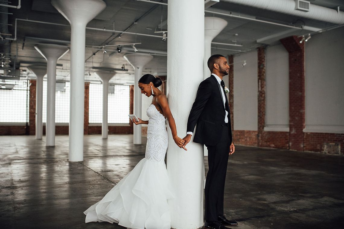 Glamorous and Industrial North Carolina Loft Wedding – Three Region Photography 38