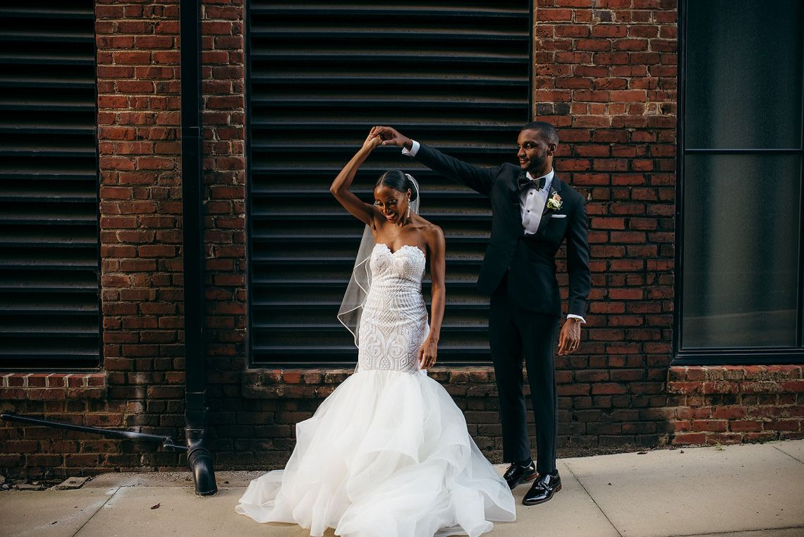 Glamorous and Industrial North Carolina Loft Wedding – Three Region Photography 44