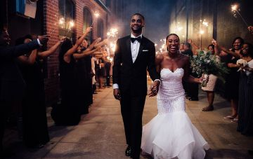 Glamorous & Modern North Carolina Loft Wedding