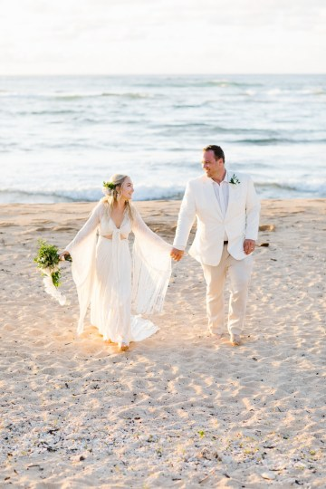 Relaxed Hawaiian Beach Wedding With Our Dream Rue De Seine Boho Wedding Dress – Absolutely Loved Photography 31
