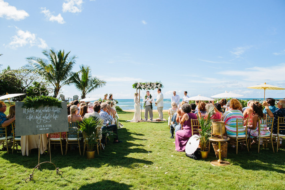 Relaxed Hawaiian Beach Wedding With Our Dream Rue De Seine Boho Wedding Dress – Absolutely Loved Photography 5
