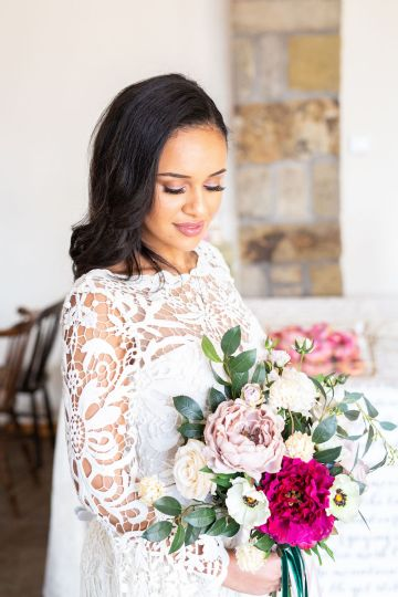 Vibrant Blossom Barn Wedding Inspiration With Creative Dessert Ideas – Deluxe Blooms – Natasha Cadman Photography 17