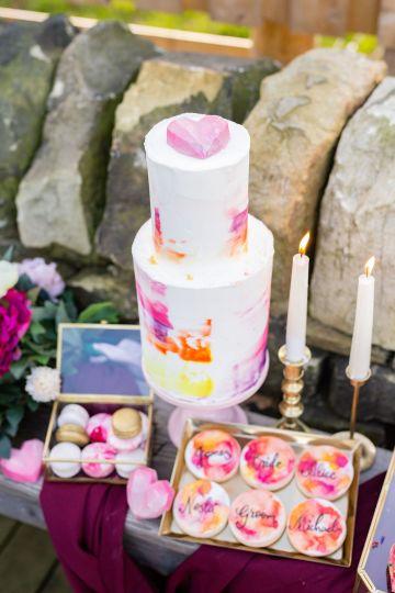 Vibrant Blossom Barn Wedding Inspiration With Creative Dessert Ideas – Deluxe Blooms – Natasha Cadman Photography 32