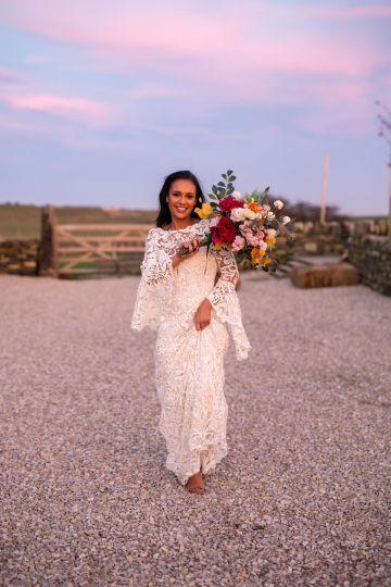 Vibrant Blossom Barn Wedding Inspiration With Creative Dessert Ideas – Deluxe Blooms – Natasha Cadman Photography 38