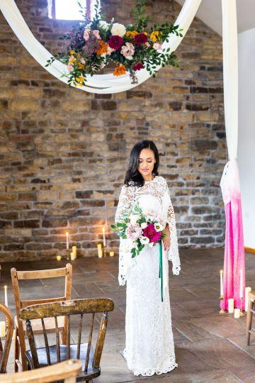 Vibrant Blossom Barn Wedding Inspiration With Creative Dessert Ideas – Deluxe Blooms – Natasha Cadman Photography 9