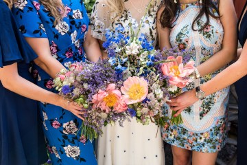 Wildflower Wedding With A Colorful Floral Wedding Dress – Jessica Grace Photography 9
