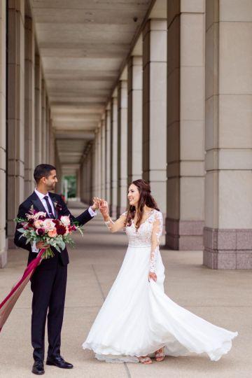 Beautiful Burgundy Hindu Fusion Wedding – Danielle Harris Photography 41