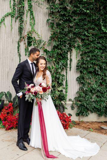 Beautiful Burgundy Hindu Fusion Wedding – Danielle Harris Photography 45