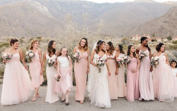 Blush Palm Springs Desert Wedding