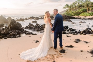 Tropical Maui Lava Field Wedding – Marlayna Photography 13