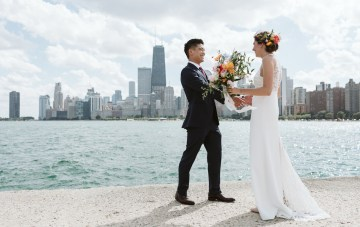 A Modern Chicago Wedding Featuring Jewish & Korean Traditions