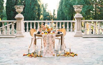 Persimmon & Pomegranate; Rustic Villa Wedding Ideas