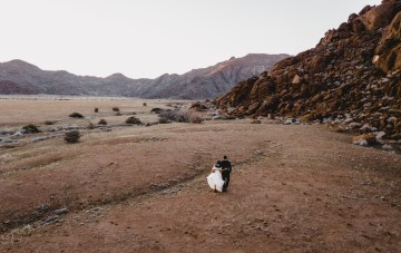 Adventurous Namibia Desert Safari Wedding