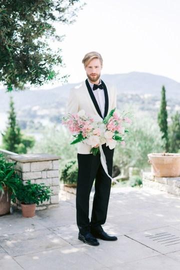 Modern Fashion-Forward Black White and Pink Greek Wedding Inspiration – Panos Demiropoulos 10