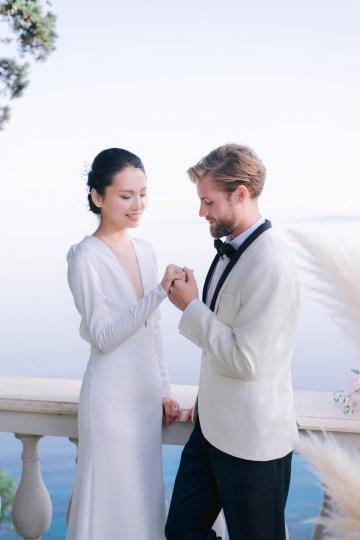 Modern Fashion-Forward Black White and Pink Greek Wedding Inspiration – Panos Demiropoulos 38