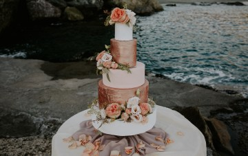 How To Style A Fall Cinque Terre Wedding In Rose Gold
