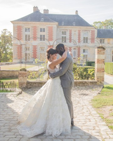 Autumn French Chateau Peach Wedding Inspiration – Szu Designs 29
